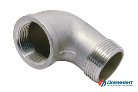 Отвод нержавеющий 90гр вн-нар AISI304 Ду20 (3/4'', 26,9мм)