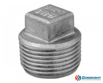 Заглушка 4х гранная нержавеющая AISI304 Ду10 (3/8'', 17,2мм)